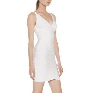 Herve Leger V Neck Dress Size Small